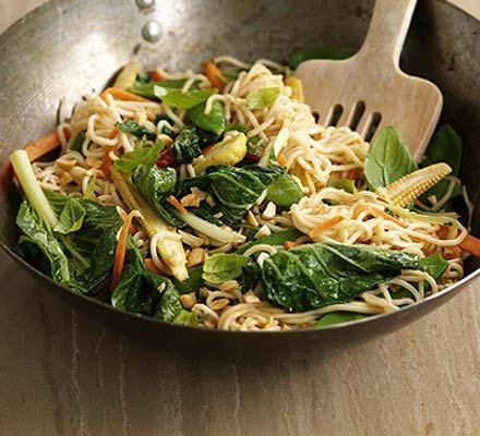 5 minute Thai satay stir-fry
