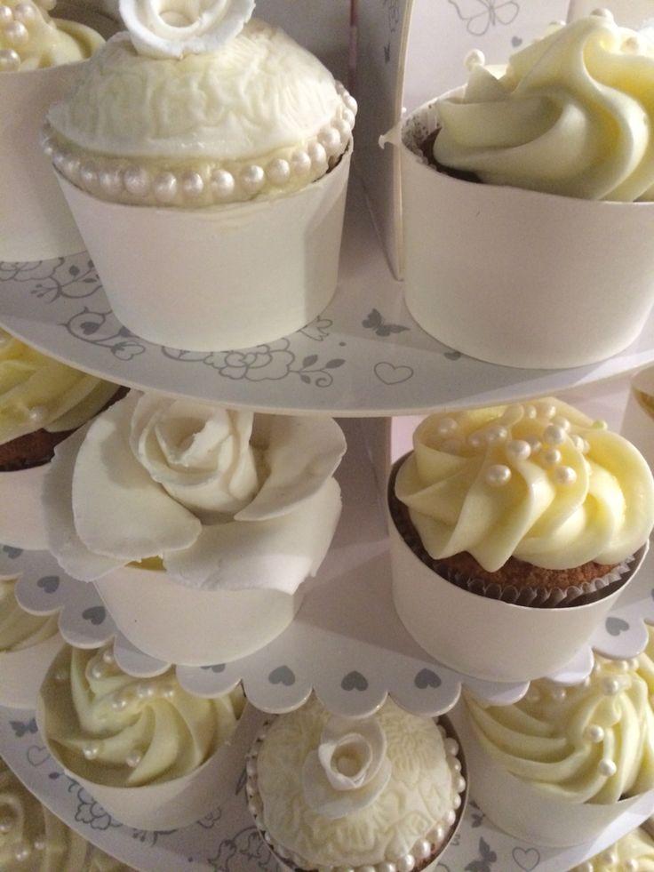 Bryllups cupcakes!