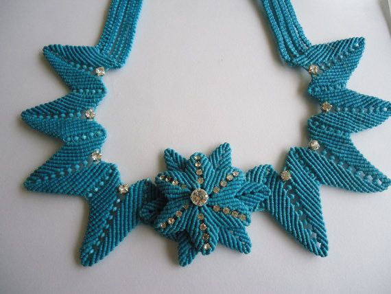 macrame necklace by MacrameCreations on Etsy, $80.00