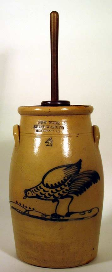 You can actually make this antique looking butter churn at home!