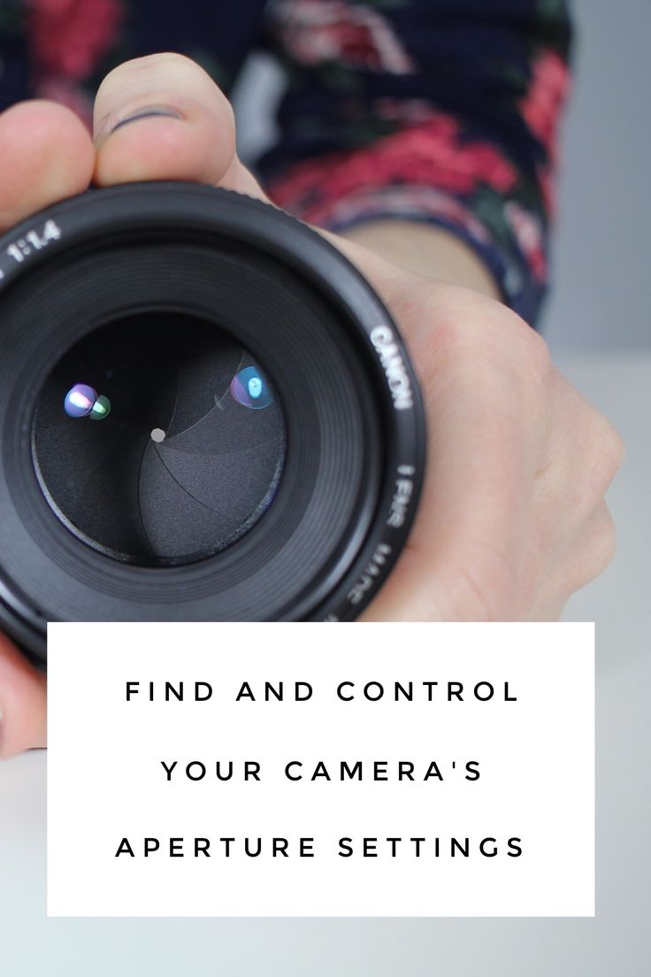 Find and Control your Camera's Aperture Settings
