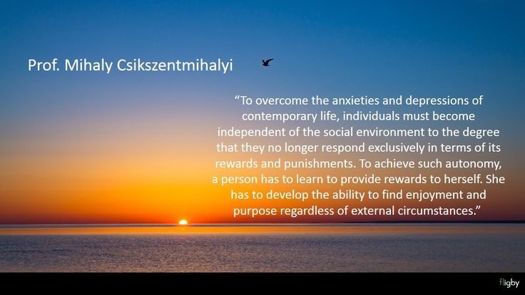 Independent by Mihaly Csikszentmihalyi