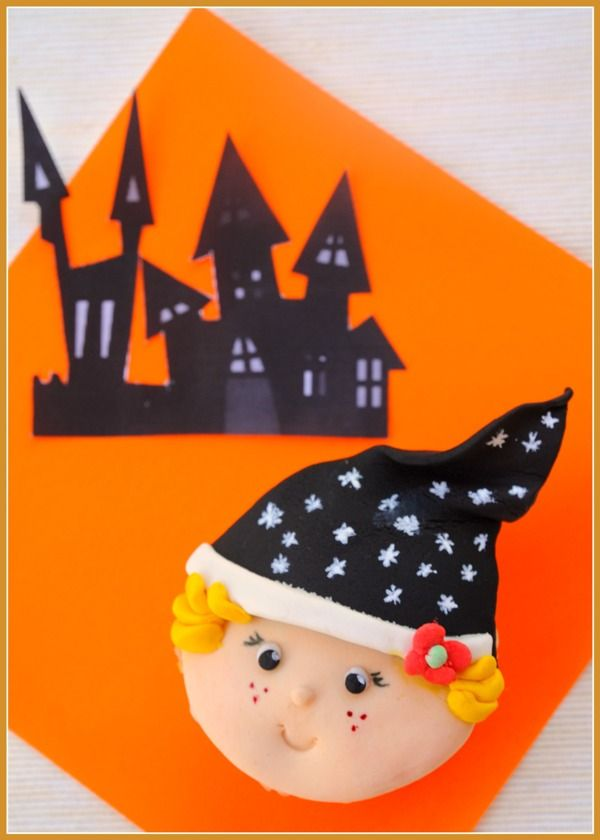 diy cute halloween witch cupcakes toppers - Cute Halloween Witches