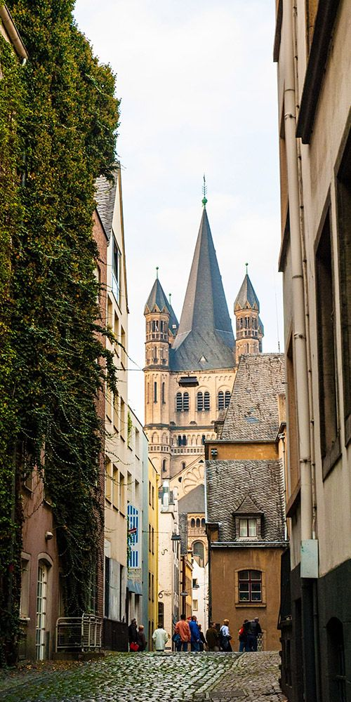 Cologne, Germany's fourth largest city, was founded by the Romans in 38 BC and today offers endless attractions. By exploring the town you'll discover an ancient Roman wall, medieval churches, and postwar buildings but its the famous cathedral's twin spires that dominate the skyline - Kölner Dom is the biggest tourist draw.