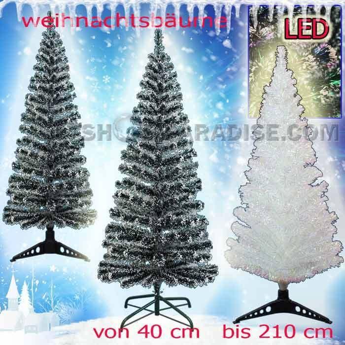 Weihnachtsbaum LED künstlicher Tannenbaum mit farbwechselnden Lichtfasern