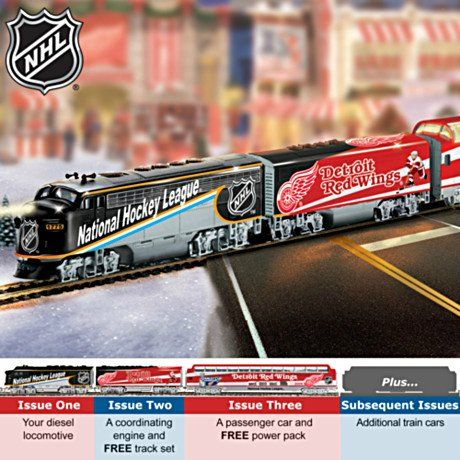 Collectible Detroit Red Wings® Championship Electric Train Collection: Unique Hockey Gift