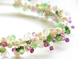 handmade tiara...only green & blue of course
