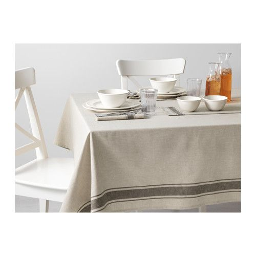 VARDAGEN Tablecloth IKEA Cotton/linen blend with the softness of cotton and the matte luster and firmness of linen.