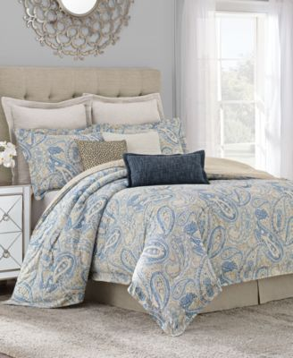 Savannah Home Sakura Paisley Queen Comforter Set | macys.com
