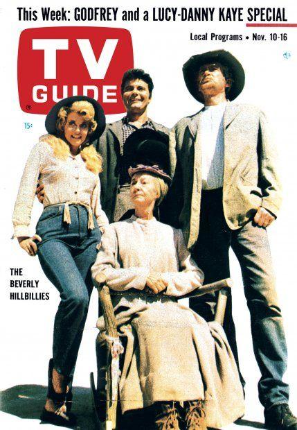 "TV Guide, November 10, 1962 - Donna Douglas, Irene Ryan, Max Baer Jr., and Buddy Ebsen of ""The Beverly Hillbillies"""