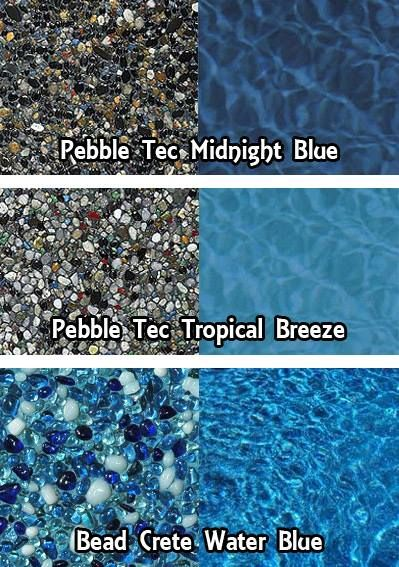 Pebble Tec finishes for your swimming pool rock stone bottom pool pond finish