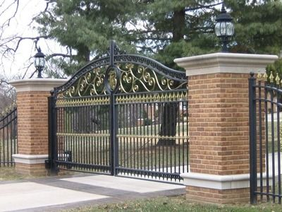 326 best driveway gates images on pinterest wooden gates for Aluminum driveway gates prices