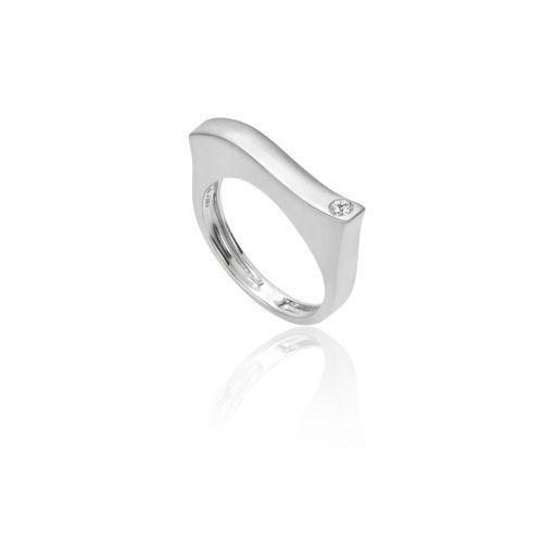 Νew Diamond Spirit ring in 18ΚΤ white gold and diamond.