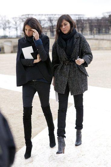 Emmanuelle Alt  With Geraldine Saglio at Paris Fashion Week Fall 2012, March 2012