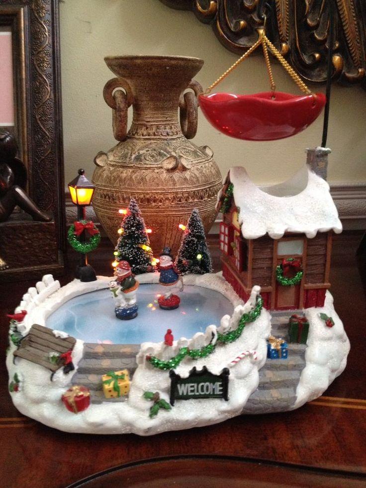RARE Yankee Candle Christmas Tart Burner Christmas Scene! Gorgeous! #YankeeCandle