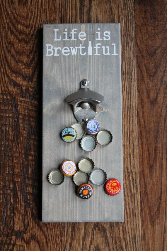 Magnetic Bottle Opener Life is Brewtiful by KnockOnWoodKnoxville
