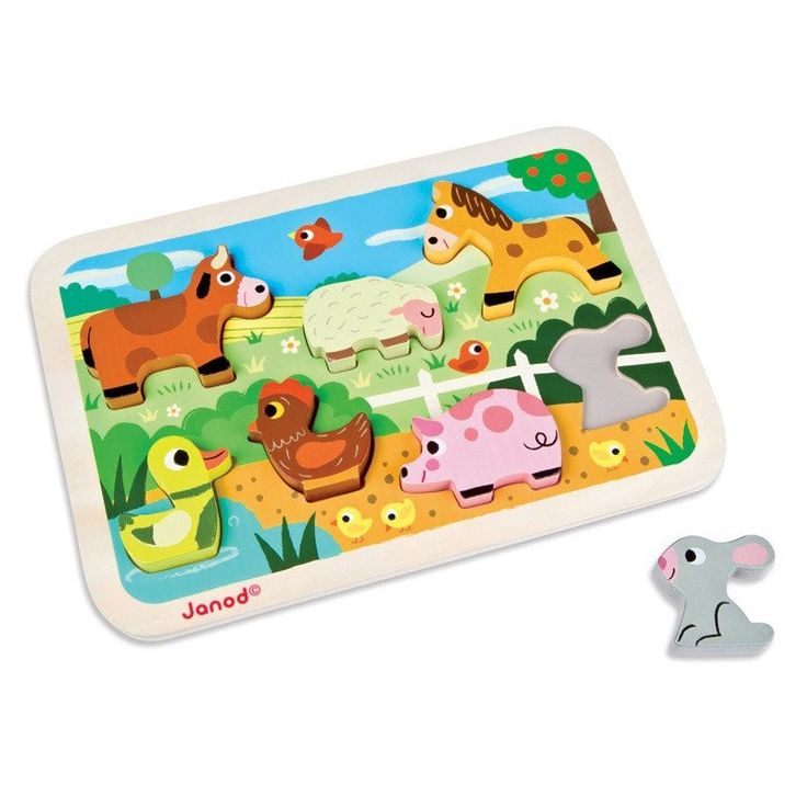 My daughter would love this Janod - Wooden Chunky Puzzle Farm, she loves animals and puzzles! #EntropyWishList #PinToWin
