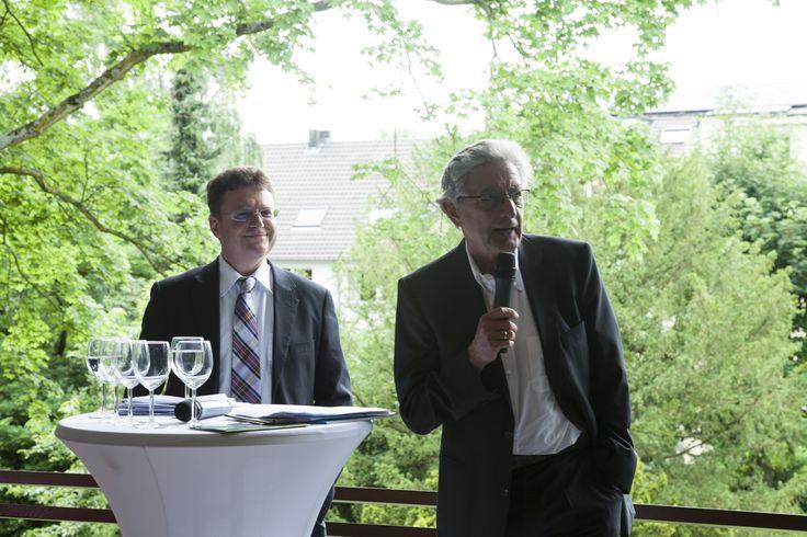 Prof. Dr. Julius Reiter und Gerhart Baum