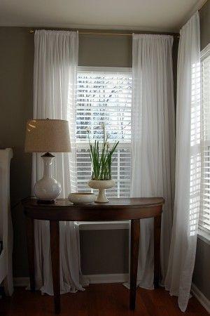long white drapes for bedroom