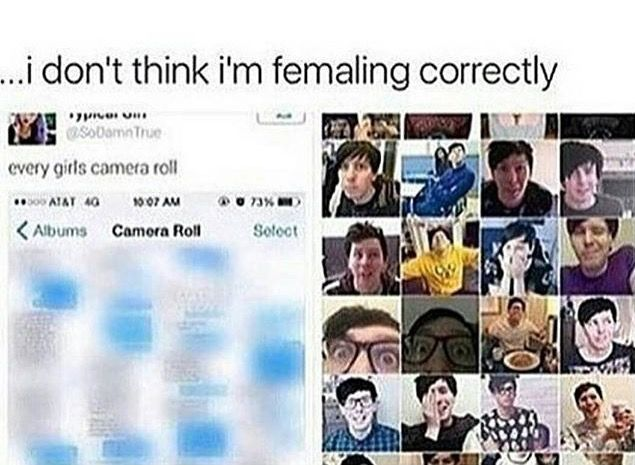 yeah mine is just pictures of dan and phil ived saved off of pinterest