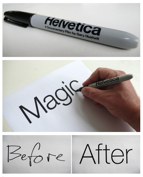 supercool helvetica felt pen