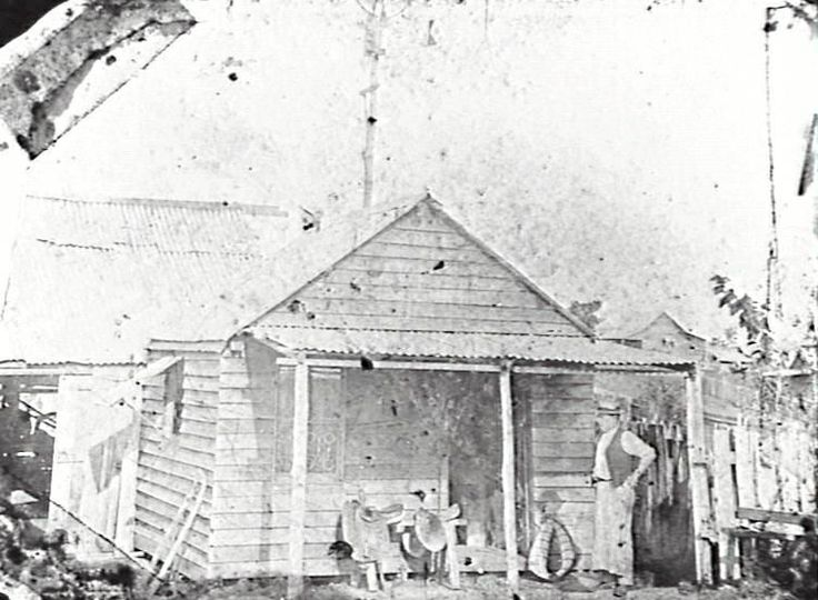 Waterford business (August Rick's Saddlery) featured in this 1901 photograph taken on Nerang Street. In his youth, the business owner used to carry the mail on horseback from Logan Village to Greenbank.