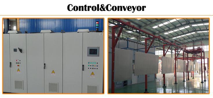 automatic guardrail powder coating line