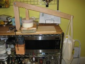 A home made press based on design from New England Cheese Making Supply.