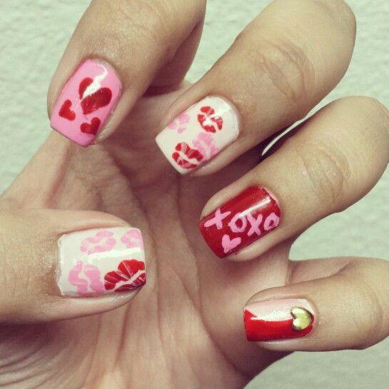 26 best nail art images on pinterest nail arts floral nail art valentines day nail art prinsesfo Images