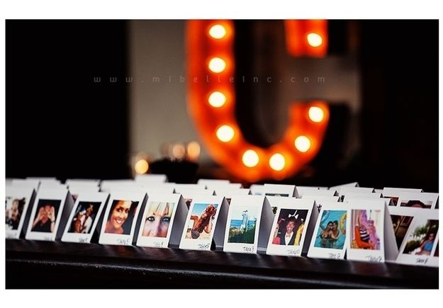 Make your wedding guests feel special with personalized seating cards with not just there names but with their faces!