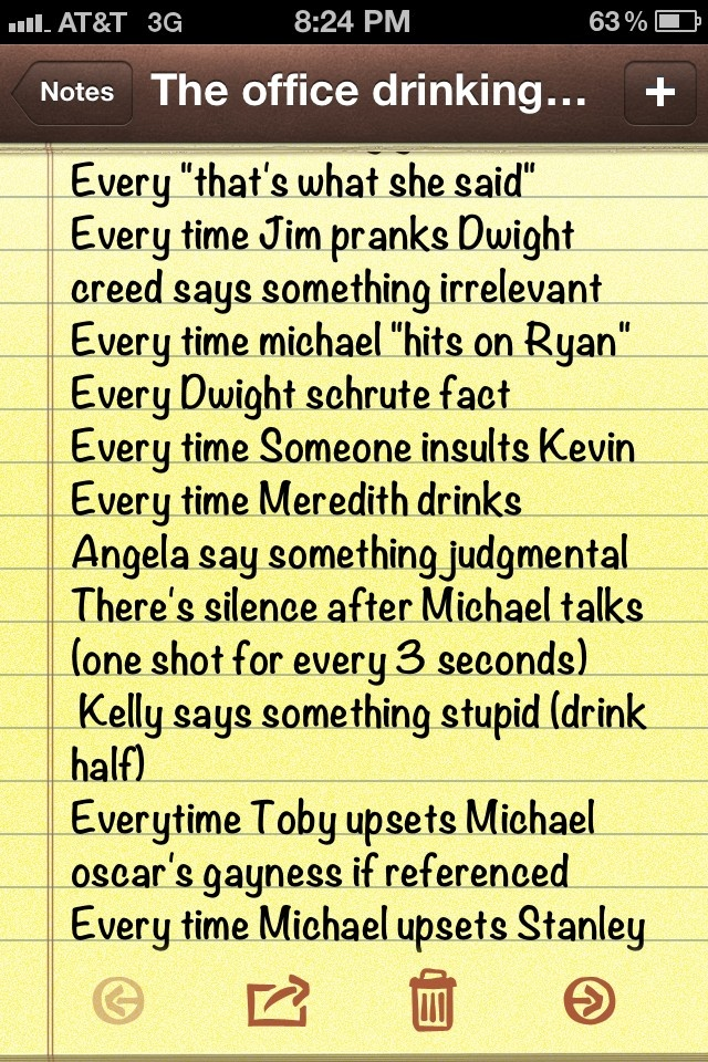 the office drinking game - Google Search