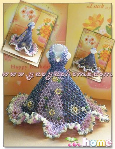 216 best images about miniature bead dress on pinterest for Wedding dress beading patterns