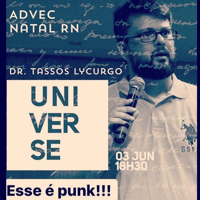 #UNIVERSE Tassos Lycurgo #ADVEC Sáb. 18h30min #apologetics #apologetica #defesadafé #mdfé #lycurgo
