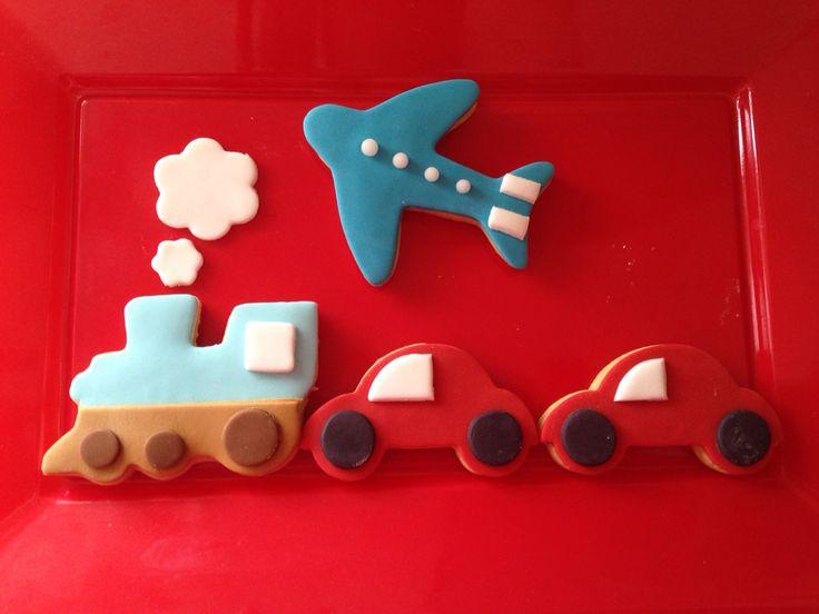 Vintage car - ciuf ciuf train and plane vanilla cookies !