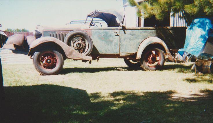 1933 Holdens body Chev standard roadster Ute.