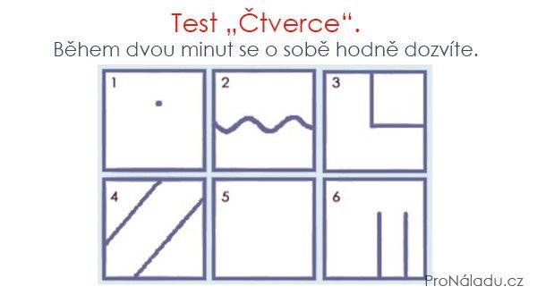"""Test """"Čtverce"""". Během dvou minut se o sobě hodně dozvíte.   ProNáladu.cz"""