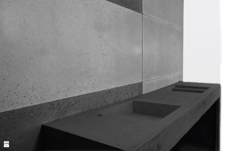 Umywalka z betonu architektonicznego - czarna - zdjęcie od Bettoni - Beton Architektoniczny - Łazienka - Styl Nowoczesny - Bettoni - Beton Architektoniczny