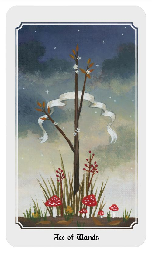 Ace of Wands. From the Anima Mundi tarot deck.