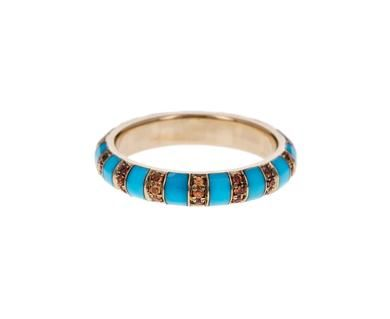 Marc Alary - Turquoise Enamel and Orange Sapphire Arte Ring in Rings Bands at TWISTonline