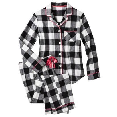 Flanelli ruutu pyjama (musta, punainen, pinkki, tumma)