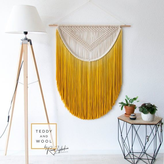 "Macrame Wall Hanging – multiple sizes Small/Medium/Large/XL/XXL/3XL – Dip dyed Wall Tapestry – Room Decor – ""ALEXA"""