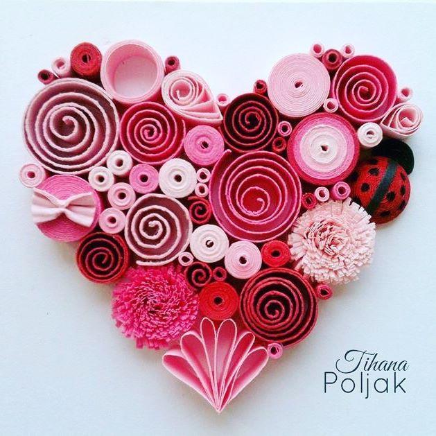Marzy mi się, żeby zrobić takie serce ❤️ tylko jak znaleźć na to czas? #hobby #handmade #diy #paper #card