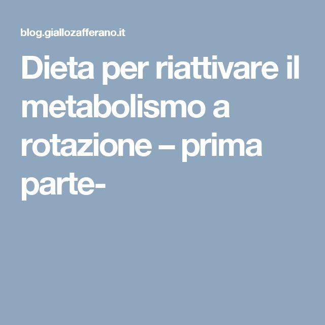 Dieta per riattivare il metabolismo a rotazione – prima parte-