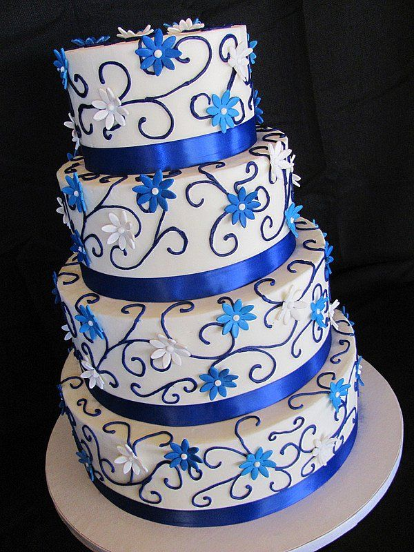 royal blue and silver wedding centerpieces%0A Royal Blue Wedding Cakes   Photo Gallery of the Few Things about Royal