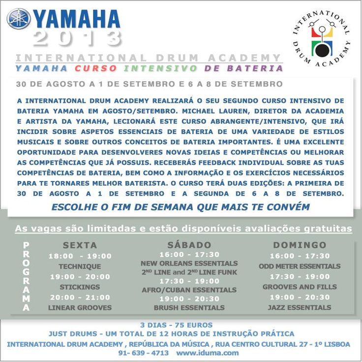 YAMAHA CURSO INTENSIVO DE BATERIA INTERNATIONAL DUM ACADEMY WWW.IDRUMA.COM