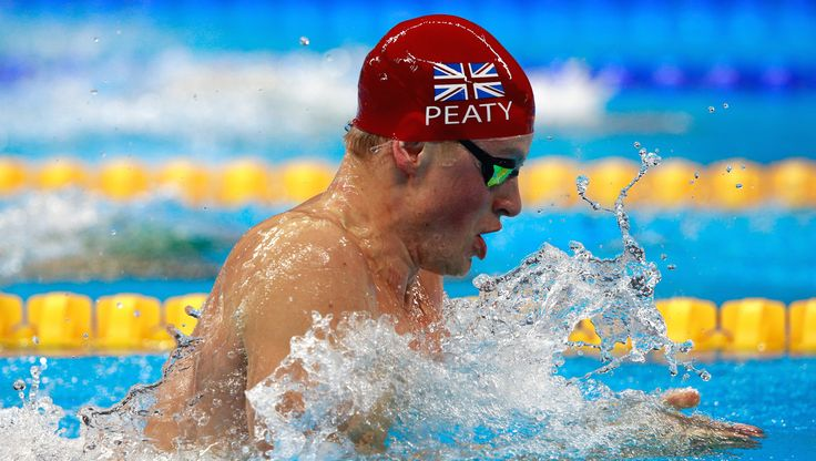 Team GB's Adam Peaty swimming towards a new World Record at Rio 2016