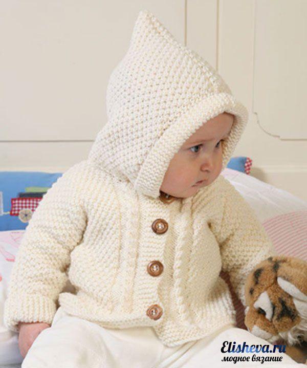 Милая детская курточка с узором рис от Drops Design вязаная спицами | Блог…