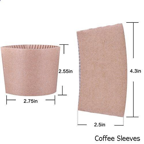 Coffee Sleeves - Gotopack Disposable Coffee Cup Sleeves Provide Great Insulation Protective Corrugated Paper Cup Sleeves 500 pack