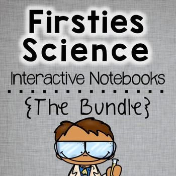 4 Interactive Notebooks Bundled to SAVE you money and help you meet the First Grade Next Generation Science Standards (NGSS)!