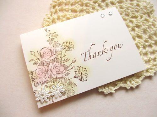花束がかわいい❤︎結婚式に来てくれたゲストへのメッセージカード